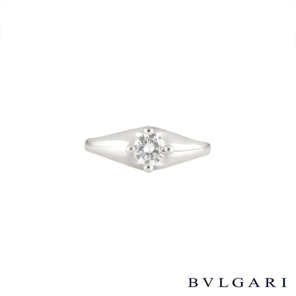 Bvlgari Round Brilliant Cut Diamond Ring in Platinum 0.35ct G/VVS2